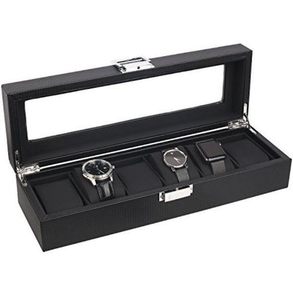 ⚠️SOLD⚠️Mantello Black/Carbon Fiber watch case